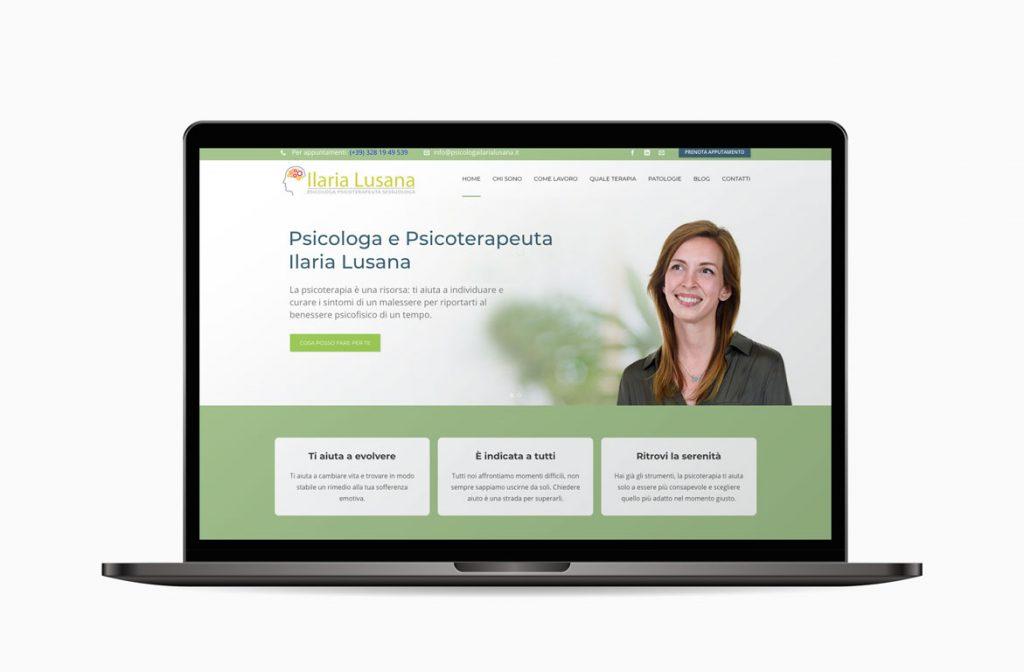 Sito web per Ilaria Lusana